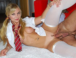 Sexy british slut is banged by a horny senior guy hardcore