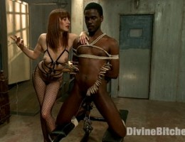 Maitresse Madeline pushes new slaves buttons with heavy corporal, wicked prostate milking and painful tease and denial.