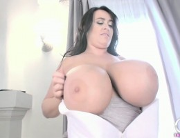 Hey there guys! I have a very sexy new bra tease and boobie shaking video here for you to (hopefully) enjoy, featuring my sexy Silver Bells bra and of course my J-Cup sized all-natural huge breasts, so I hope this makes your weekend that much better!
