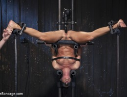 Super sexy MILF, India Summer endures extreme bondage and tons of torment.
