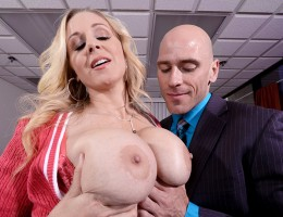 Julia Ann\'s one Milf whose hands-on approach to life goes a little too far sometimes. When she visits her son at his work, it doesn\'t take long for the manager Johnny to notice what a hot piece of ass she is. Julia heads right back to the boss\'s office