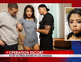 Brat Gets Busted Foul-mouthed little brat Maya Bijou gets busted soliciting sex in a local hotel. After checking out her smoking hot body Lt. Bruno offers her a way to avoid jail: complete sexual submission. Maya complies and soon winds up tied up, gagged