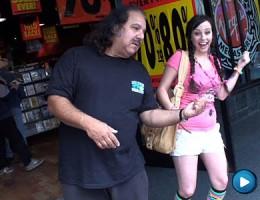 Wild little young slut fucks legend Ron Jeremy's dick dry