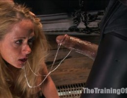 Hot blonde MILF with big tits fucked in the ass while beating her feet