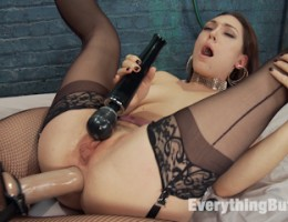 Then Kimberly rides Lily\'s face in an amazing facing sitting performance. Lily is Fisted and then strap on fucked to show off her amazing gaps.