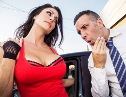 Jessica Jaymes shows up her driving exam totally unprepared. She\'s failed the test 68 times, with no luck. If she wants to pass on the 69th try, then she\'s going to need to convince Keiran to examine her big tits instead of her driving. By the end of he