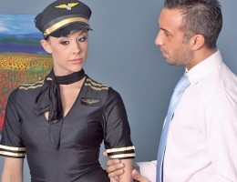 Keiran is a high powered business man waiting in the pre-boarding area when he notices a gorgeous airline stewardess attending to some of the other passengers. Chanel makes the announcement that Keiran\'s flight has been delayed. Forced to wait overnight,