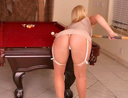 2 hot horny big tits pornstars get fucked hard on the pool table in these hot cumfaced 3some big movie