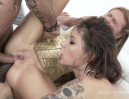 Nikita Belucci & Timea Bella in double anal foursome SZ970