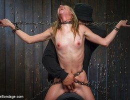 First timer gets properly introduced to brutal devices and made to orgasm uncontrollably.