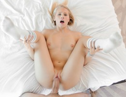 hot blonde Dakota sucks and fucks a big cock
