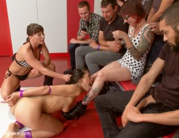 Wrestling Failure leads to a brutal public disgrace for the loser, fistings and DP\'s are the best way to teach a loser a lesson