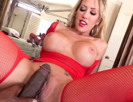 Naughty Capri rides Lex's huge cock in her tight hole.