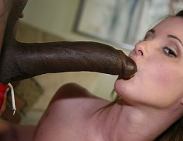 A dirty slut spends her free afternoon pleasing a pair of big black cocks