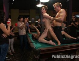 Sloppy whore Lily LaBeau shows up late and JP and Isis aren\'t having it. They invite the dark denizens of a pool hall to make her truly earn her pay.