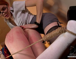 Naughty Student Gets A Major Spanking With A T-Square Ruler