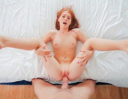College age ginger girl brings home a stranger to pound her ass