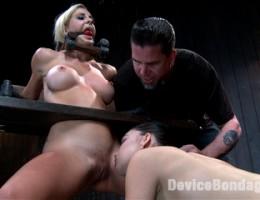 Hardcore bondage, squirting orgasms, extreme torment, bastinado, electrical punishment, sensory deprivation, pussy fucking, pussy licking