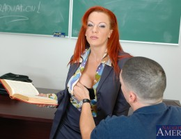 Mrs. Shannon Kelly doesn't like the way Alex tries to dominate her class. She's gonna' teach him a lesson he'll never forget ... the economics or of consumption of his cock and spunk!