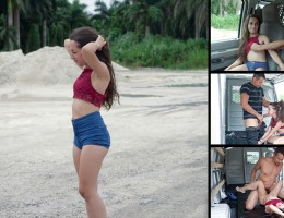 Things just don\'t seem to be going poor Freya\'s way. First she gets lost in a desolate area, then her car decides to breakdown, and now, the sweltering Florida sun is after heer! No girl with an ass as fat and juicy as hers should be left stranded. Fort