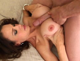 Brunette needs 2 big cocks cuming all over her huge ttties