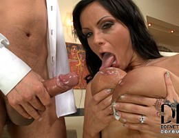 Rico blows a huge mess of cream all over Sheila