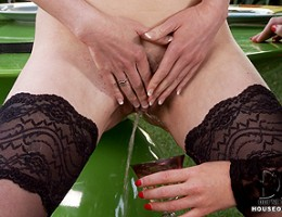 Samantha Bentley is forced to taste her own pee and loves it