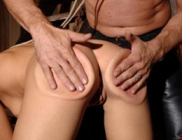 Spanking lover gets her firm butt warmed with hard spanks