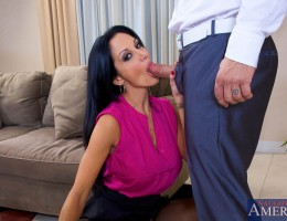 Ava Addams has a full schedule, so does her husband. They rarely see each other and Ava hasn\'t been fucked in a long time. All she really wants is dick, so she does what any successful women with no time on her hands would do, takes the first cock sh