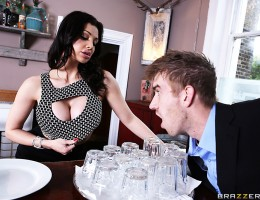 Love is an unpredictable thing. You never know when Cupid\'s arrow is going to strike, and for Danny D, it struck him the moment he laid eyes on that beautiful busty brunette Aletta Ocean. She was working at his local coffee place, and as soon as they loc