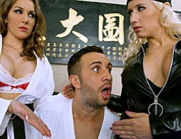 Keiran is ready to master the next level at the Dragon Tough dojo, and faces a final challenge. Kung Fu Masters Kiera King and Sammie Spades have decided to show him their new unorthodox techniques. That\'s right - it\'s time for Mr. Lee to Enter the Vagi