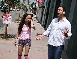 Man's rebellious daughter fucks black man in front of him