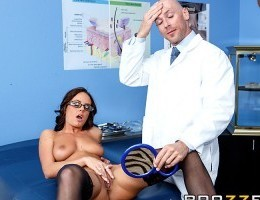 When Rahyndee walked into Dr. Johnny Sins office, she wanted to get all kinds of work done, from facelifts to nips and tucks. But when she stripped down to some sexy black lace lingerie and thigh-high stockings for her consultation, Johnny knew she was