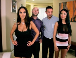 Keiran & Ava have new neighbors, Ms Kate and her hubby. It seems the neighborly thing to do would be to extend an invitation to have them over for dinner, and figure out a way to fuck their brains out!